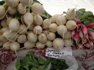 Japanese sweet turnips from a northern Michigan farmers' market.